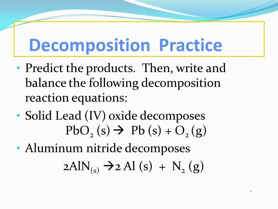 Decomposition Practice