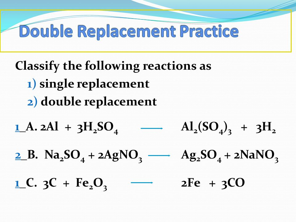 Double Replacement Practice
