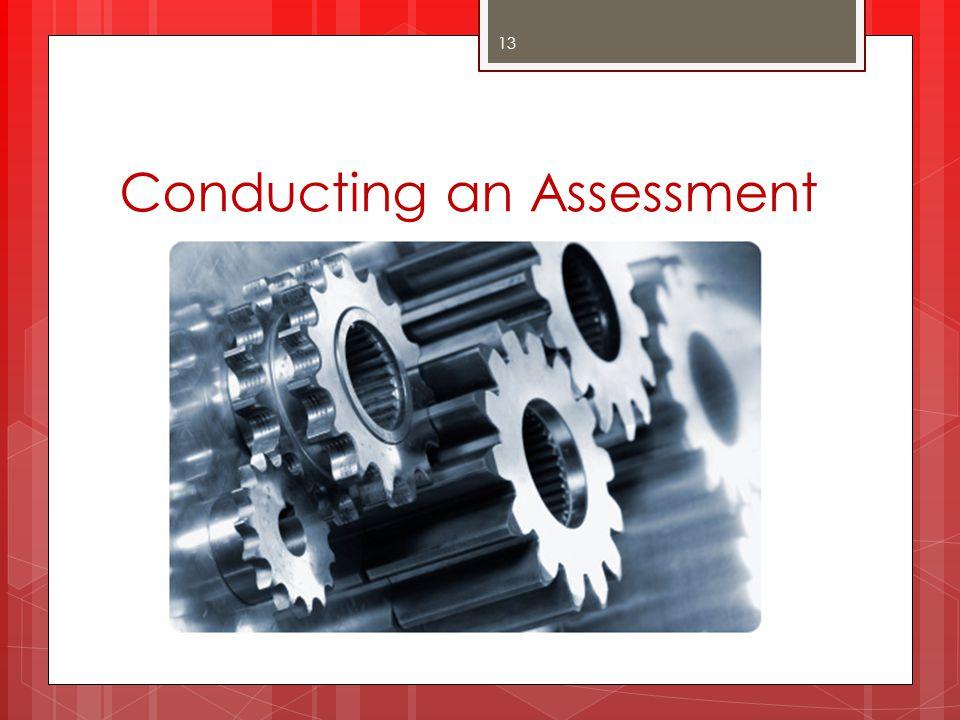 Conducting an Assessment
