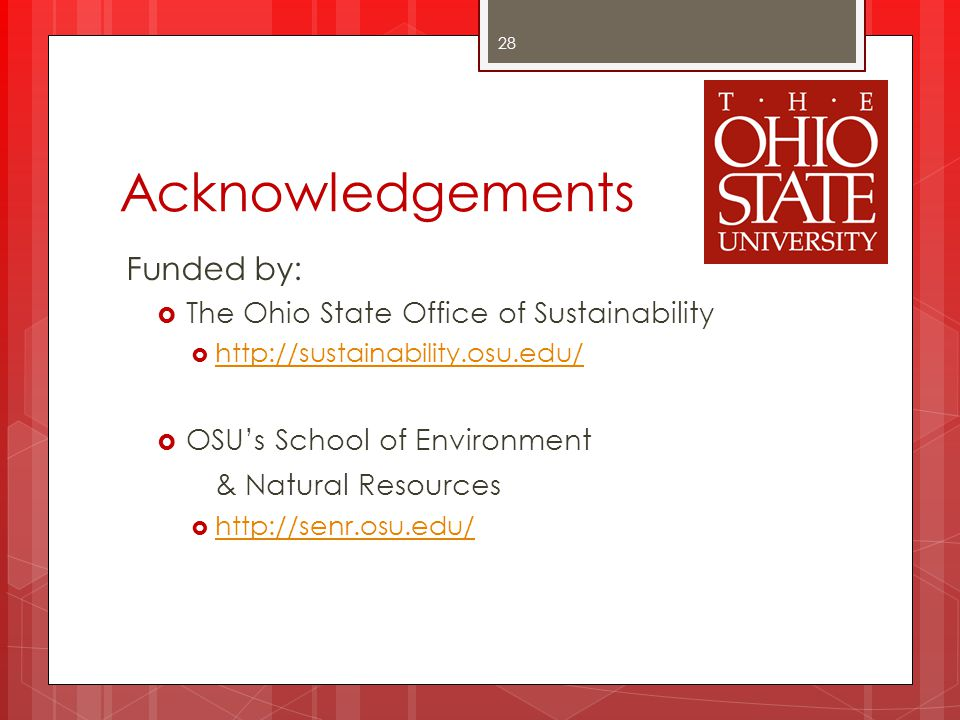 Acknowledgements Funded by: & Natural Resources