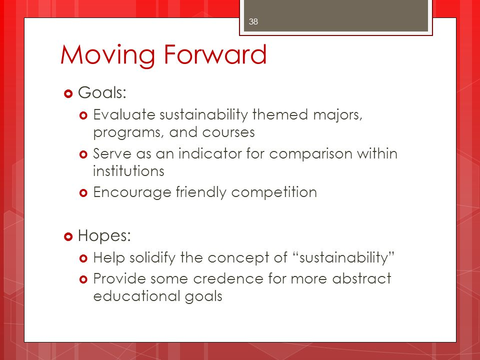 Moving Forward Goals: Hopes: