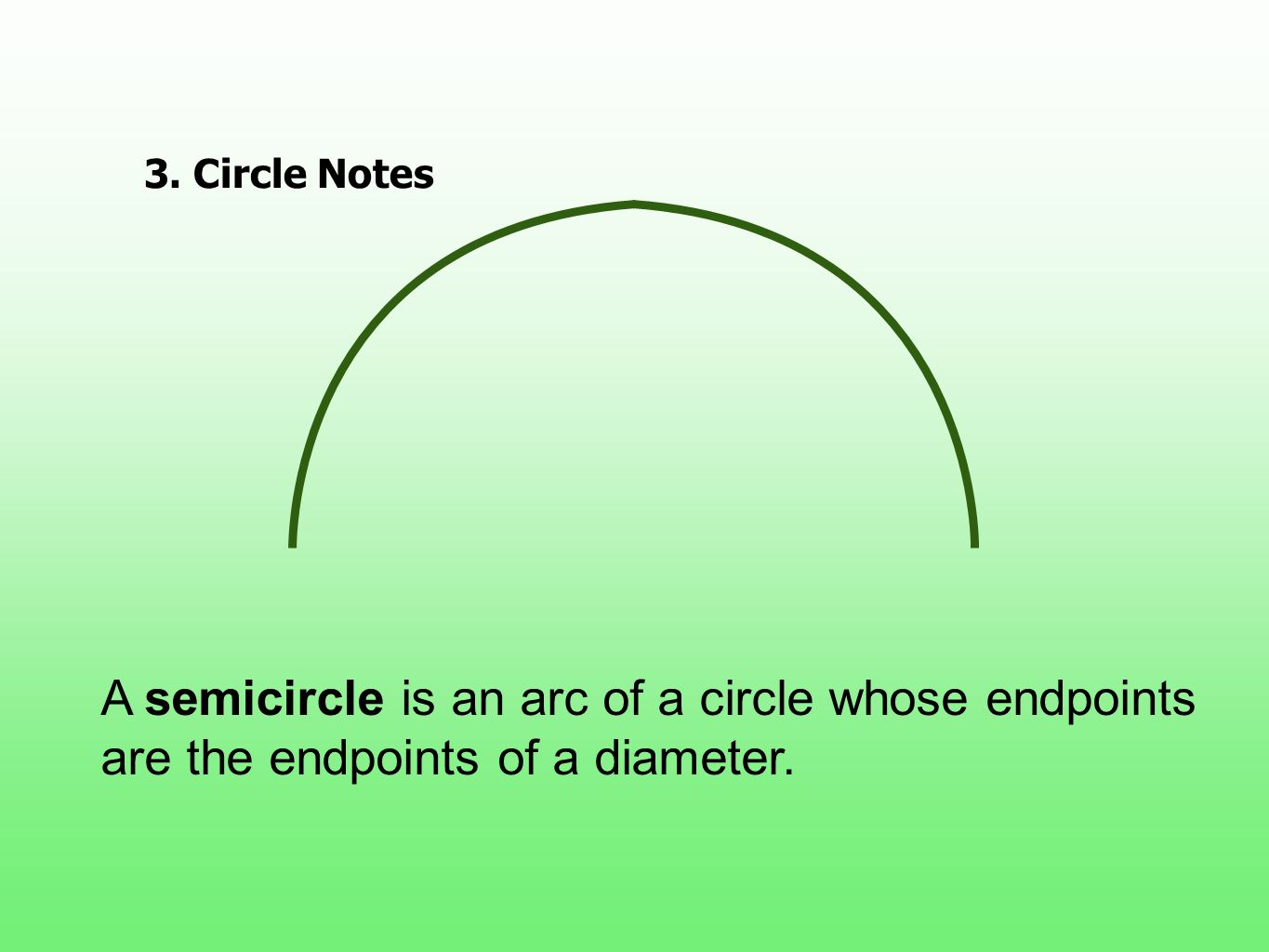 3. Circle Notes Draw and define.