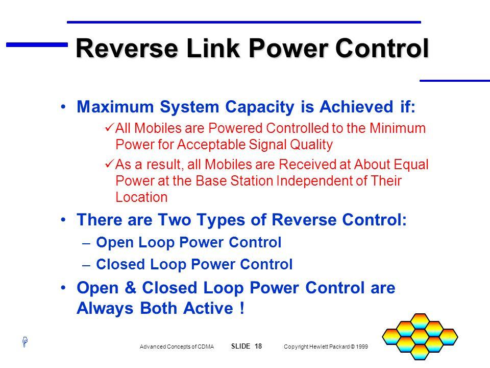 Reverse Link Power Control