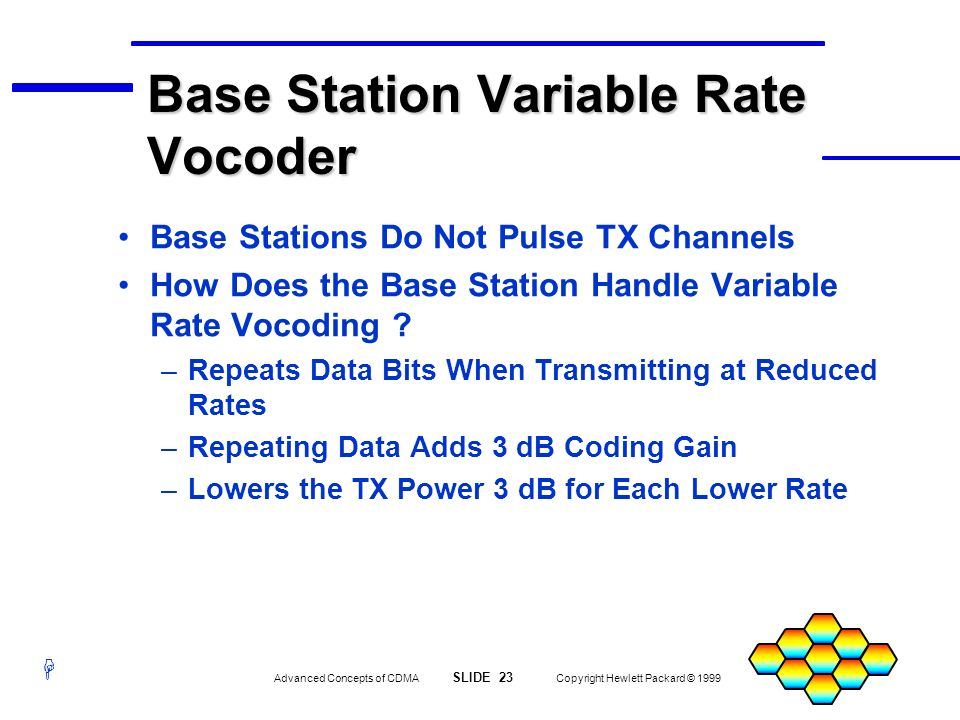 Base Station Variable Rate Vocoder