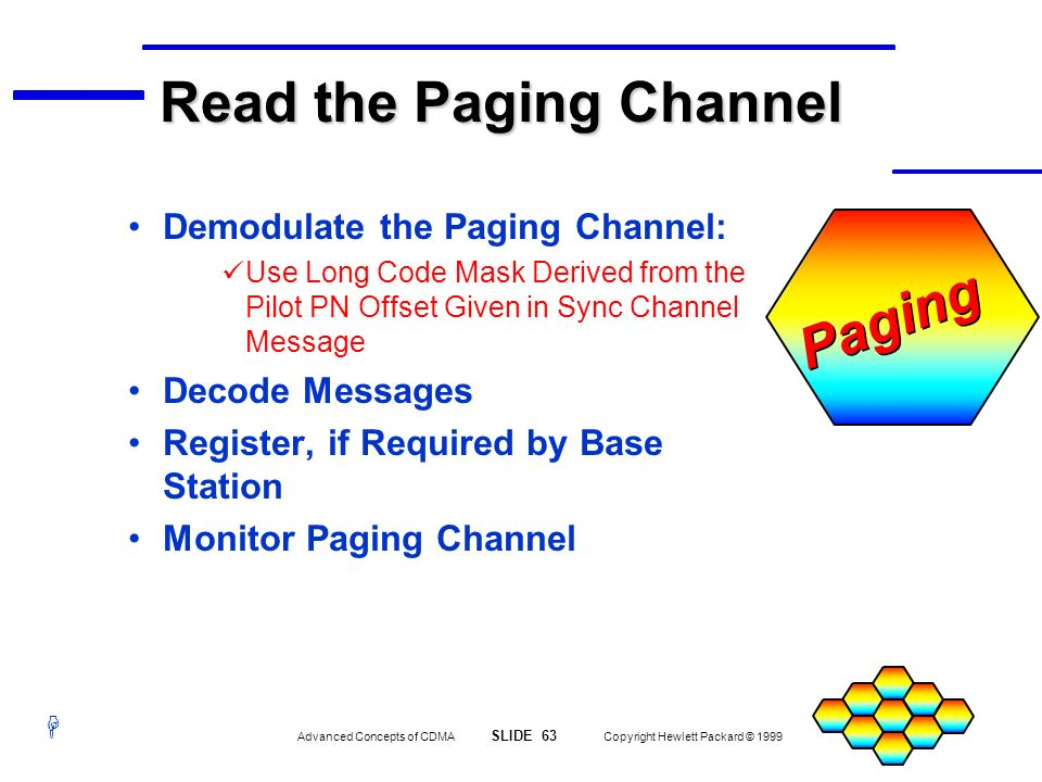 Read the Paging Channel