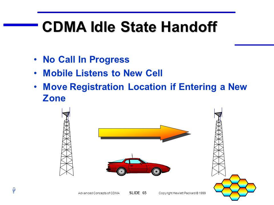 CDMA Idle State Handoff
