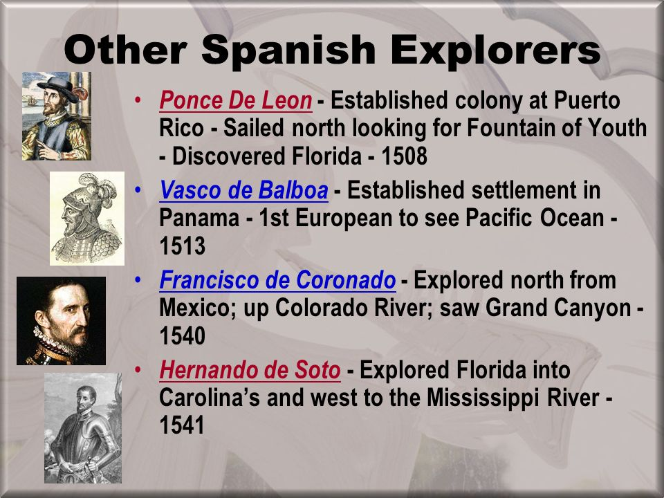 Other Spanish Explorers