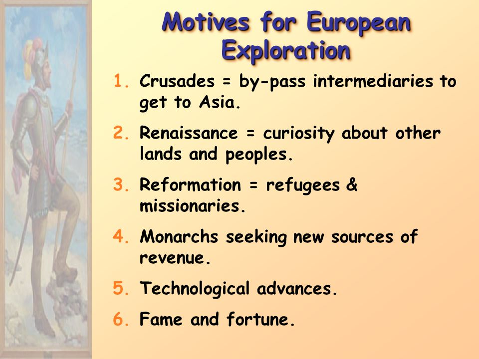 Motives for European Exploration