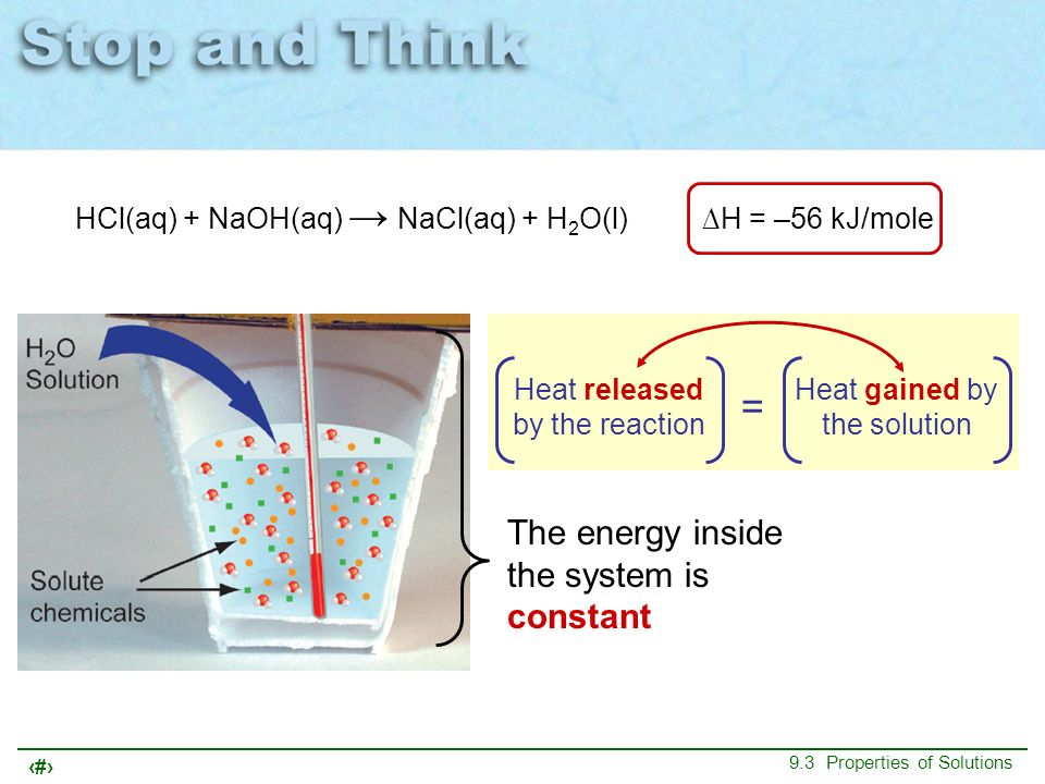 = The energy inside the system is constant