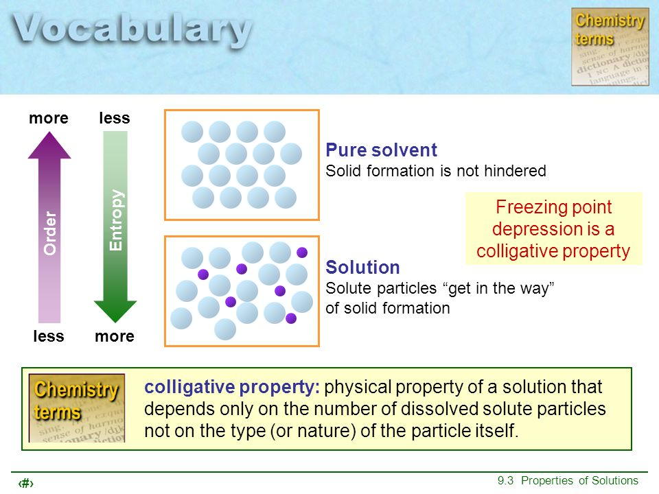 Freezing point depression is a colligative property