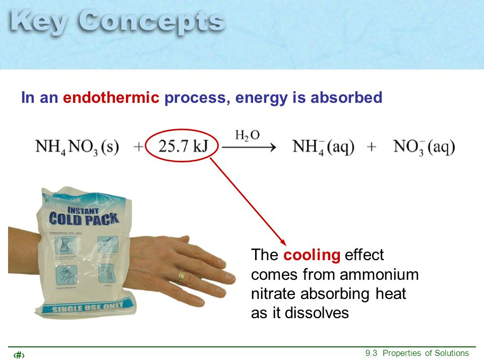 In an endothermic process, energy is absorbed