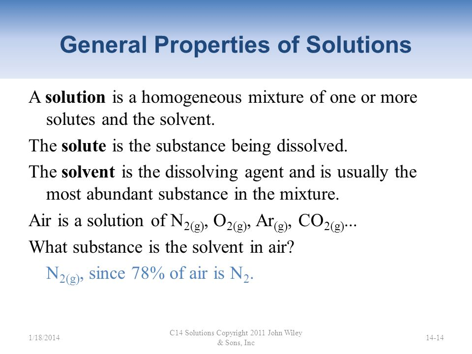 General Properties of Solutions