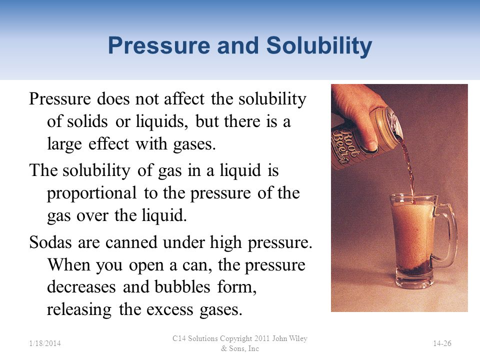 Pressure and Solubility