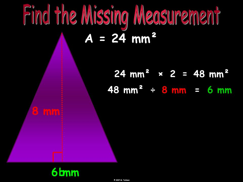Find the Missing Measurement