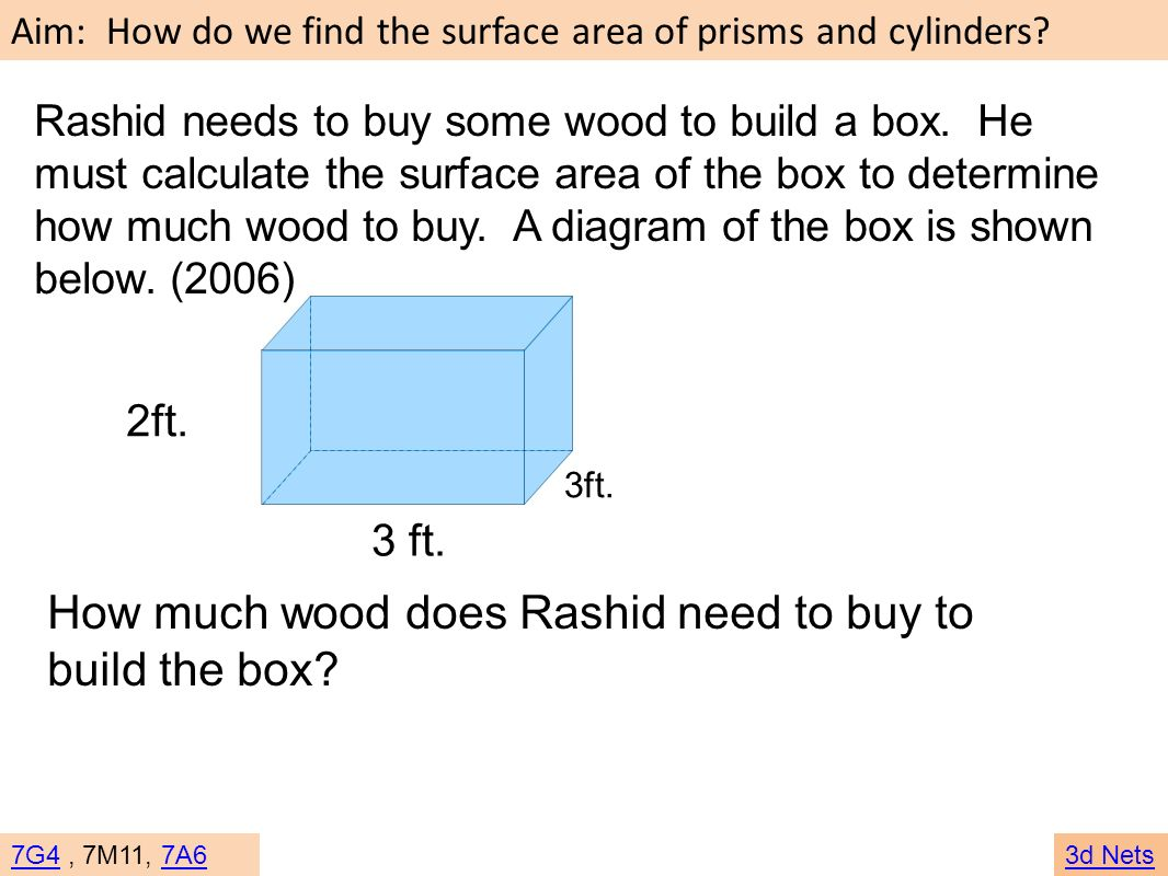 How much wood does Rashid need to buy to build the box