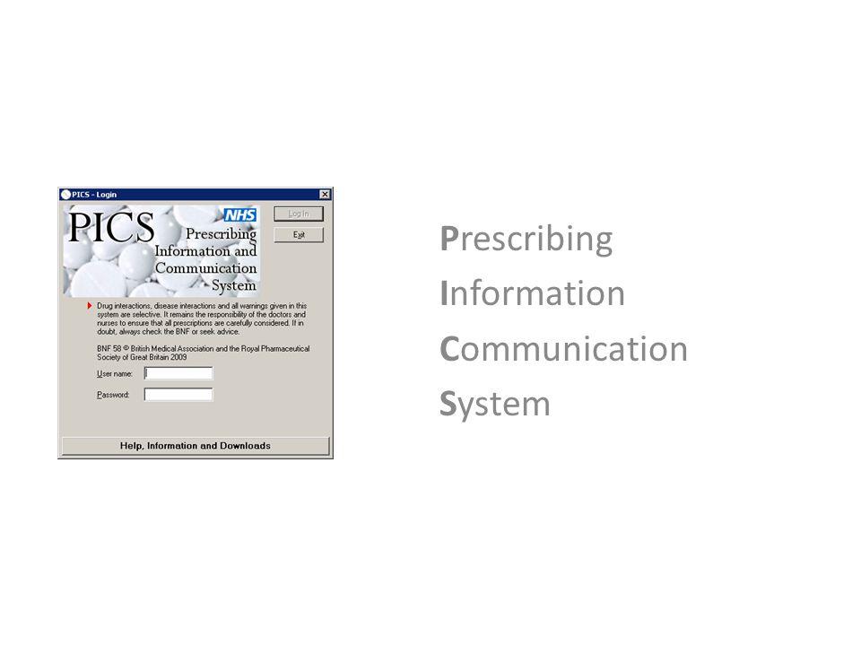 Prescribing Information Communication System