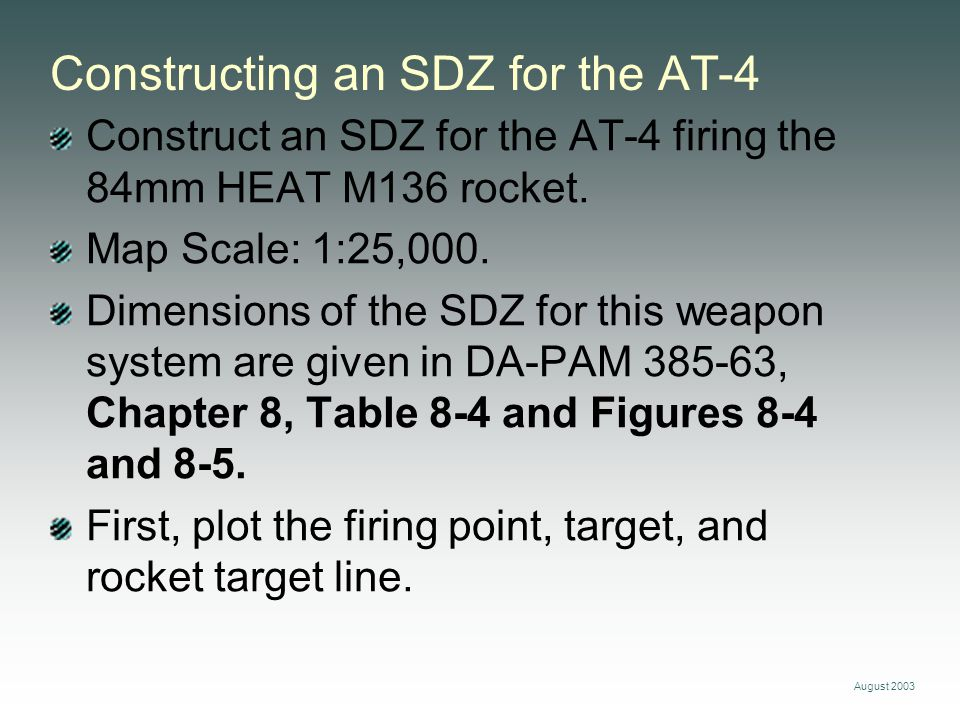 Constructing an SDZ for the AT-4