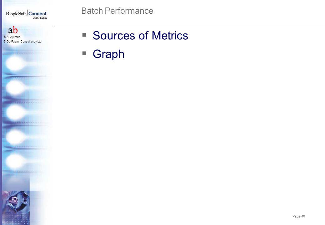 Sources of Metrics Graph Batch Performance