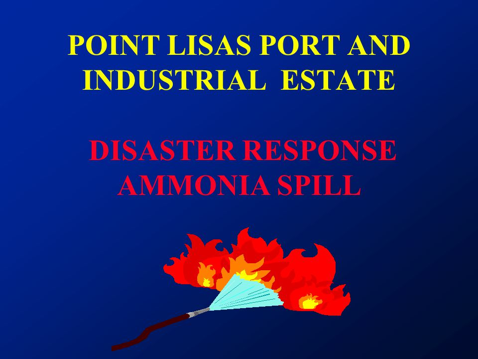 POINT LISAS PORT AND INDUSTRIAL ESTATE DISASTER RESPONSE AMMONIA SPILL