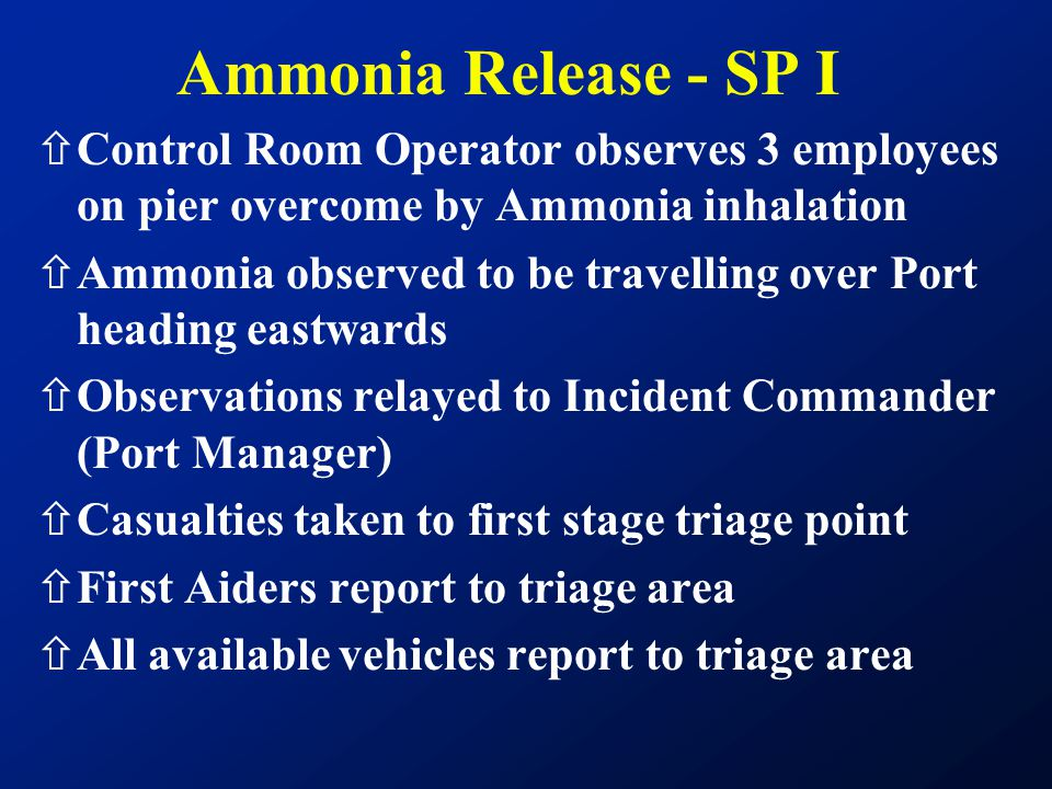 Ammonia Release - SP I Control Room Operator observes 3 employees on pier overcome by Ammonia inhalation.