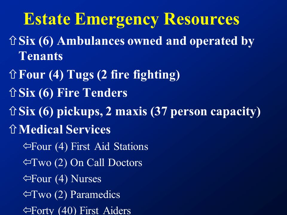 Estate Emergency Resources