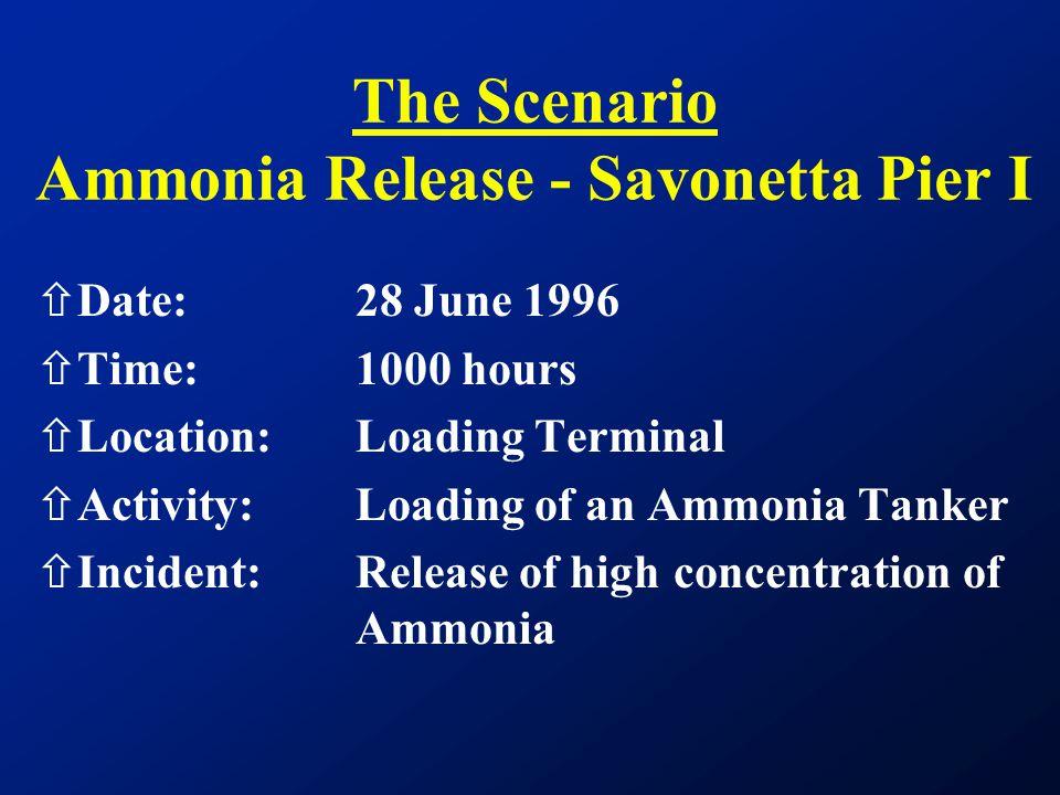 The Scenario Ammonia Release - Savonetta Pier I