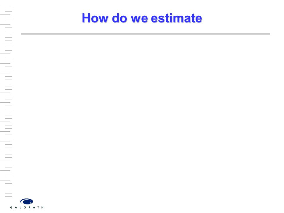 How do we estimate