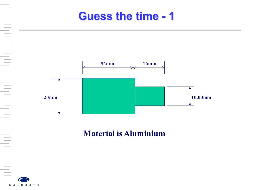 Guess the time - 1 20mm 10.00mm 32mm 16mm Material is Aluminium