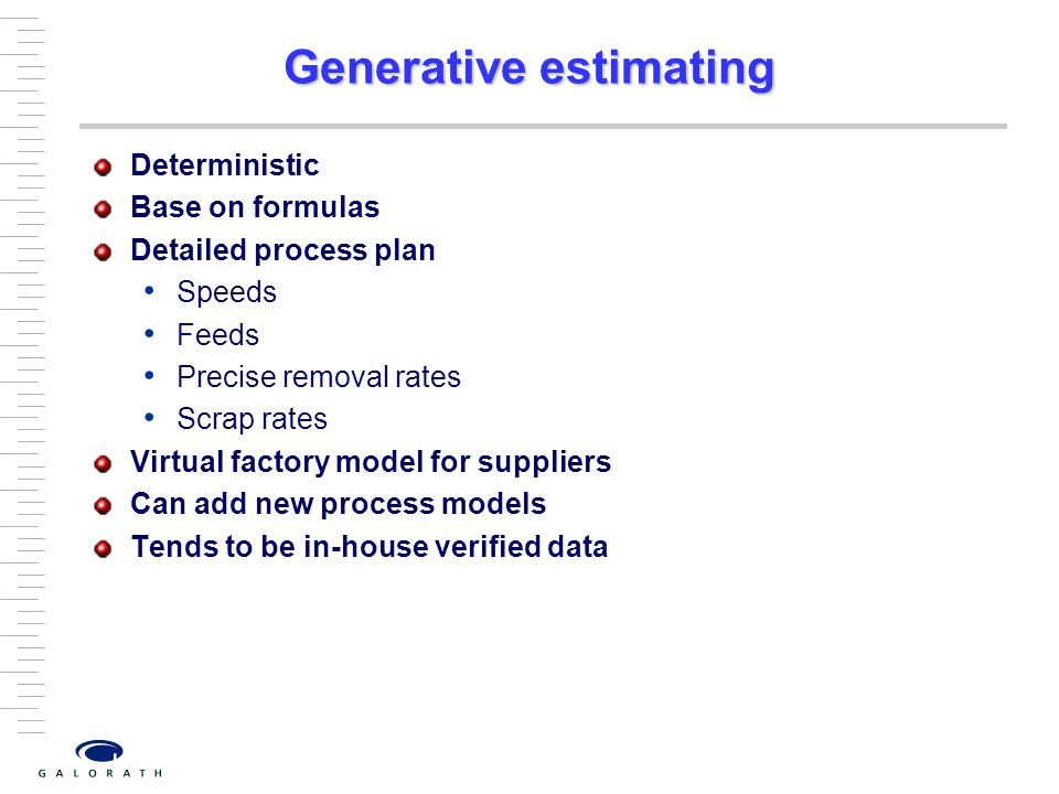 Generative estimating
