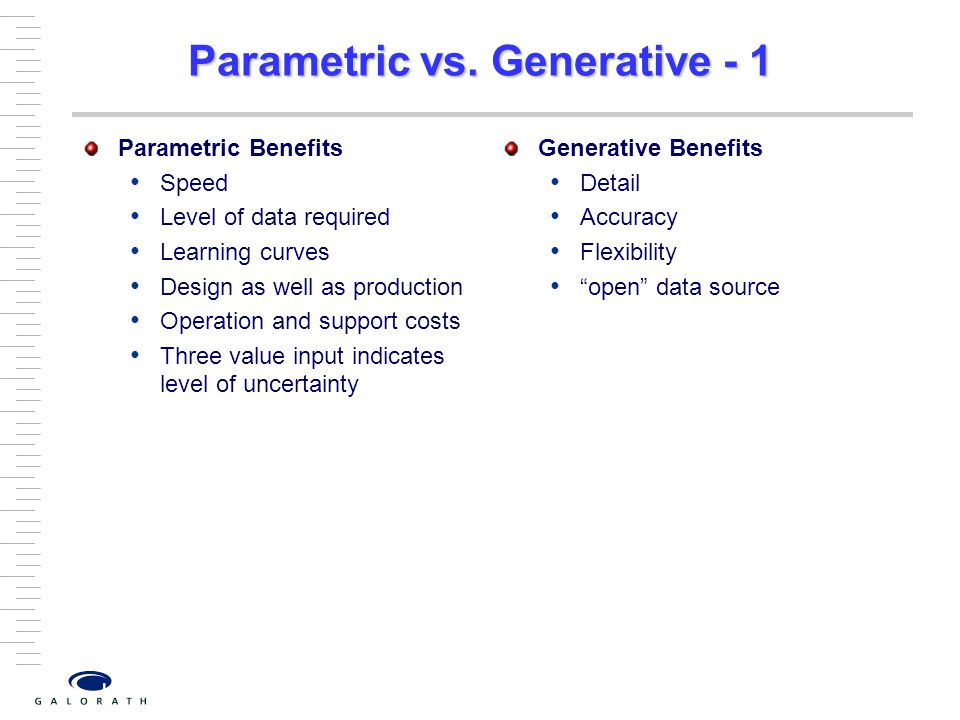 Parametric vs. Generative - 1