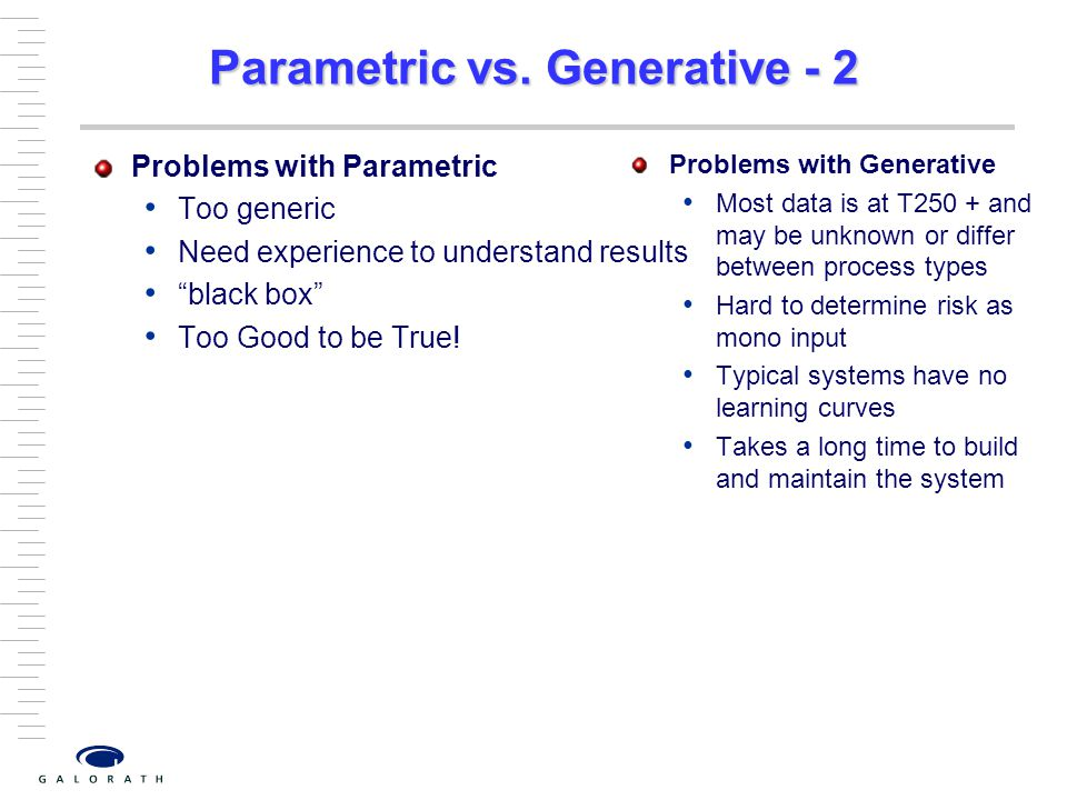 Parametric vs. Generative - 2