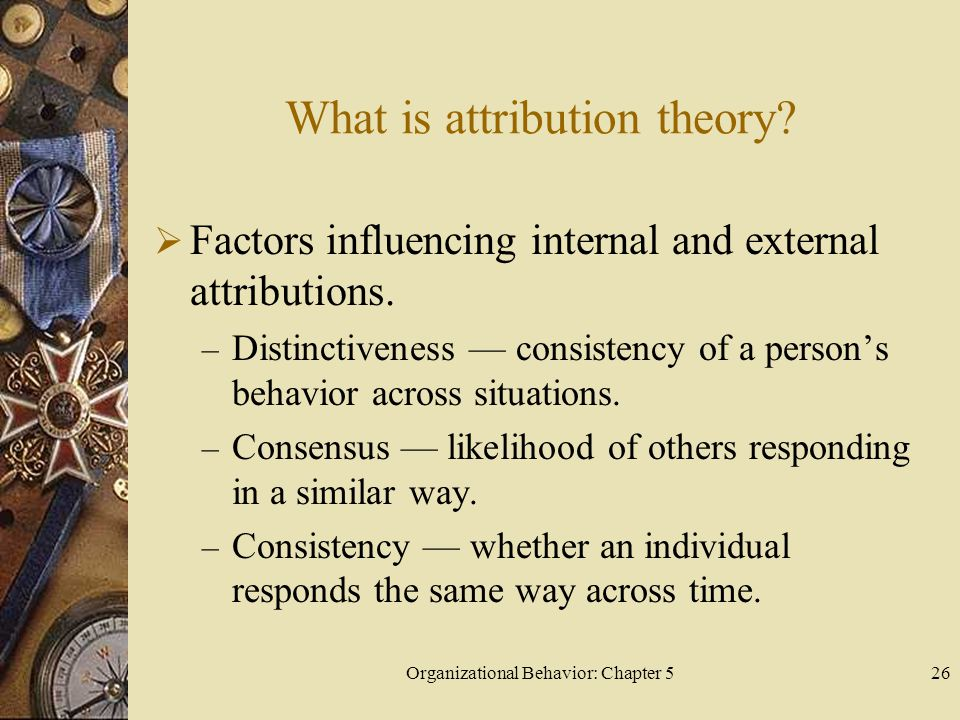 What is attribution theory