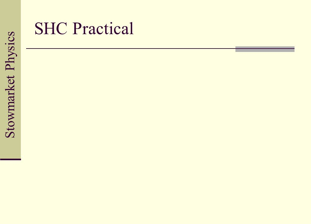 SHC Practical