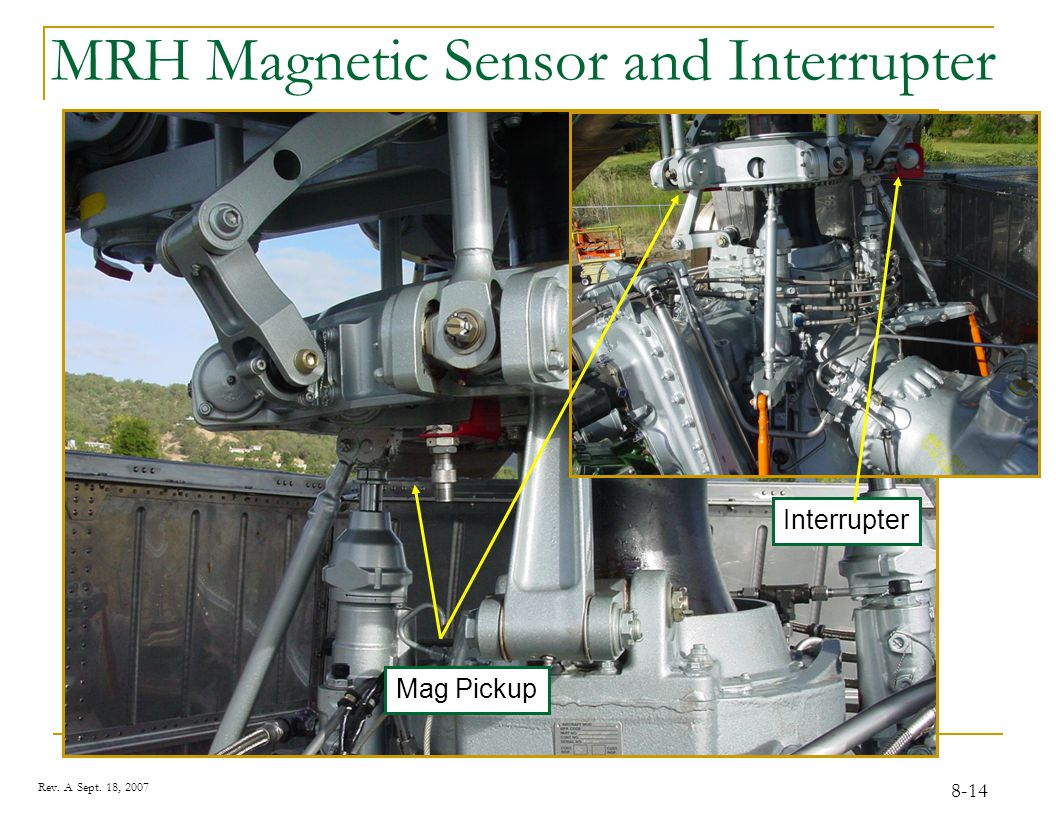 Tracking the MRH Track and Balance on the MRH requires the CADU, DAU, UTD, the Magnetic RPM Sensor, and two Accelerometers.
