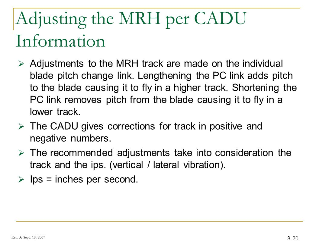 Tracking the MRH