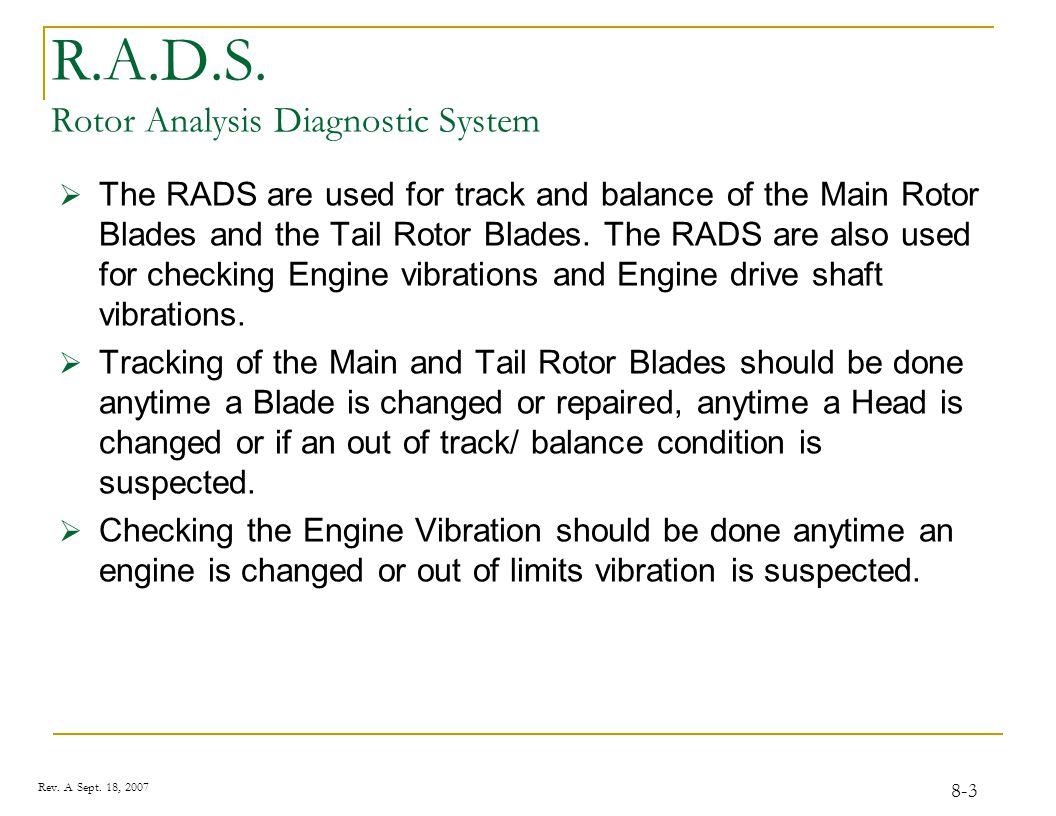 Blade Tracking / Vibration Analysis