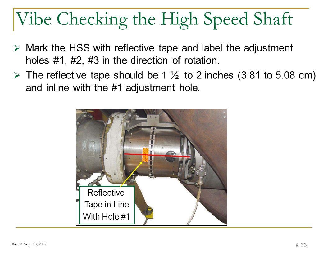 HSS Balance Adjustment Hole #1 Reflective Tape Direction of Rotation