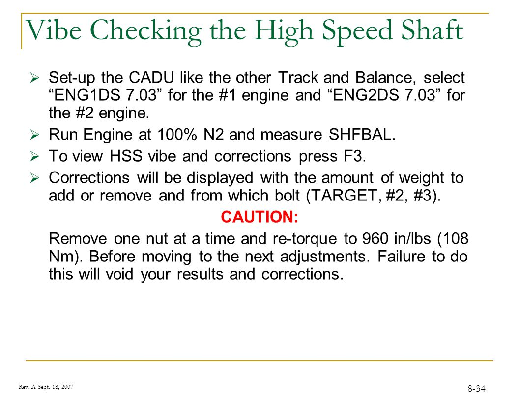 Vibe Checking the High Speed Shaft