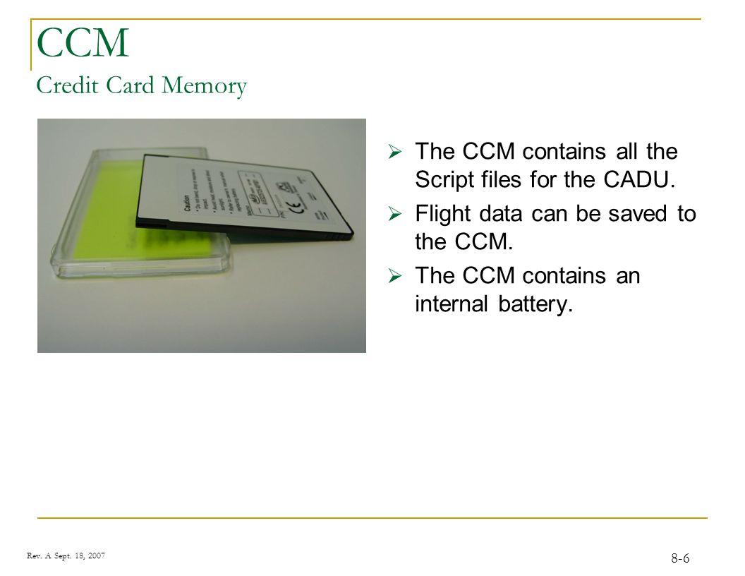 C.A.D.U. Control and Display Unit