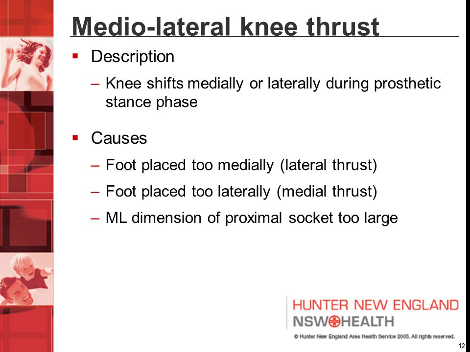 Medio-lateral knee thrust