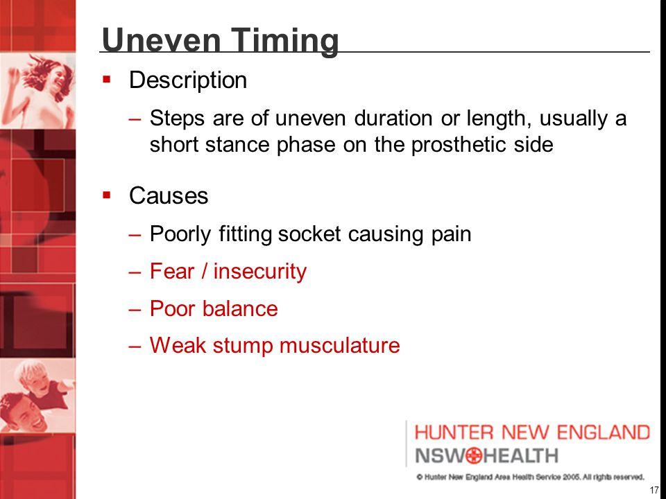 Uneven Timing Description Causes