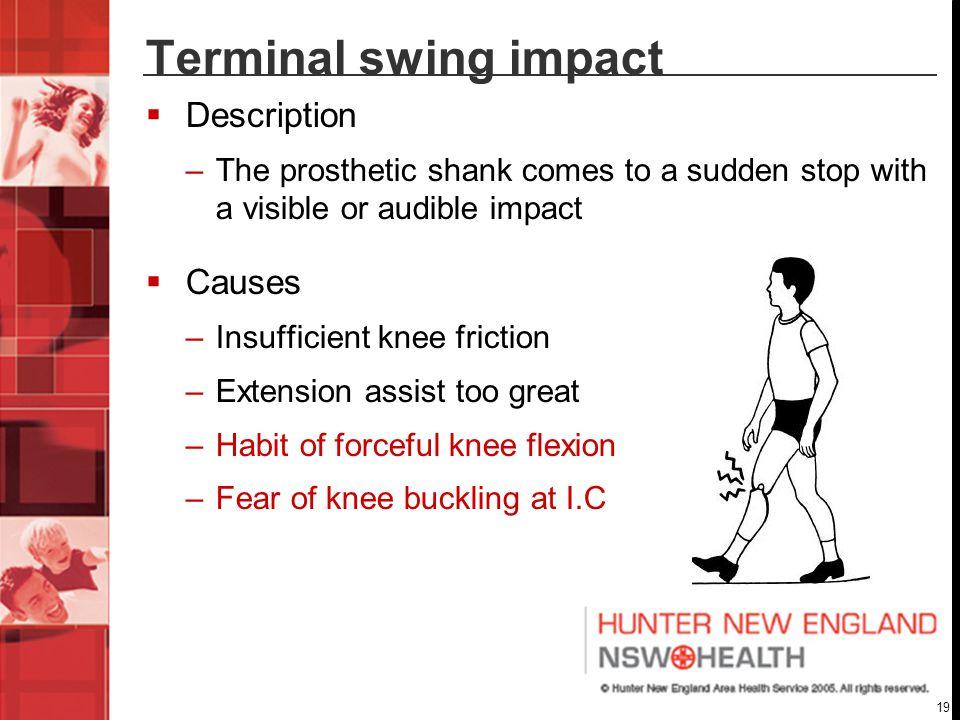 Terminal swing impact Description Causes