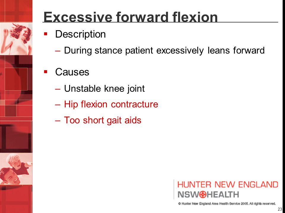 Excessive forward flexion