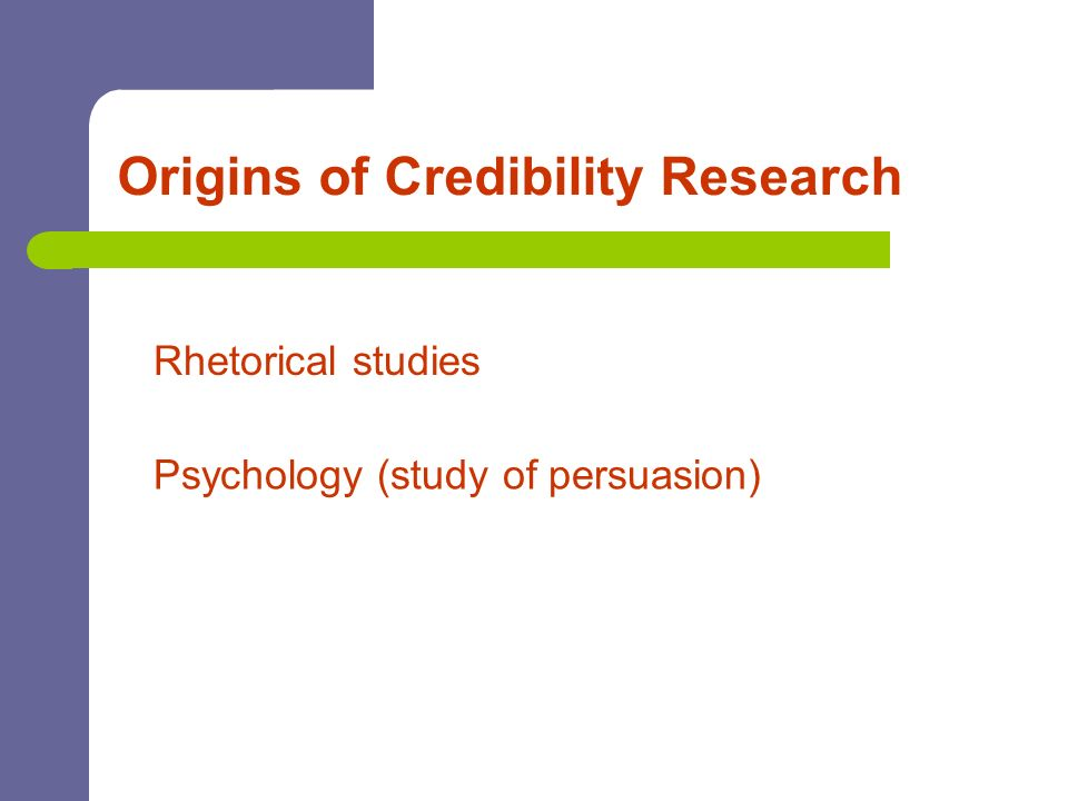 Origins of Credibility Research