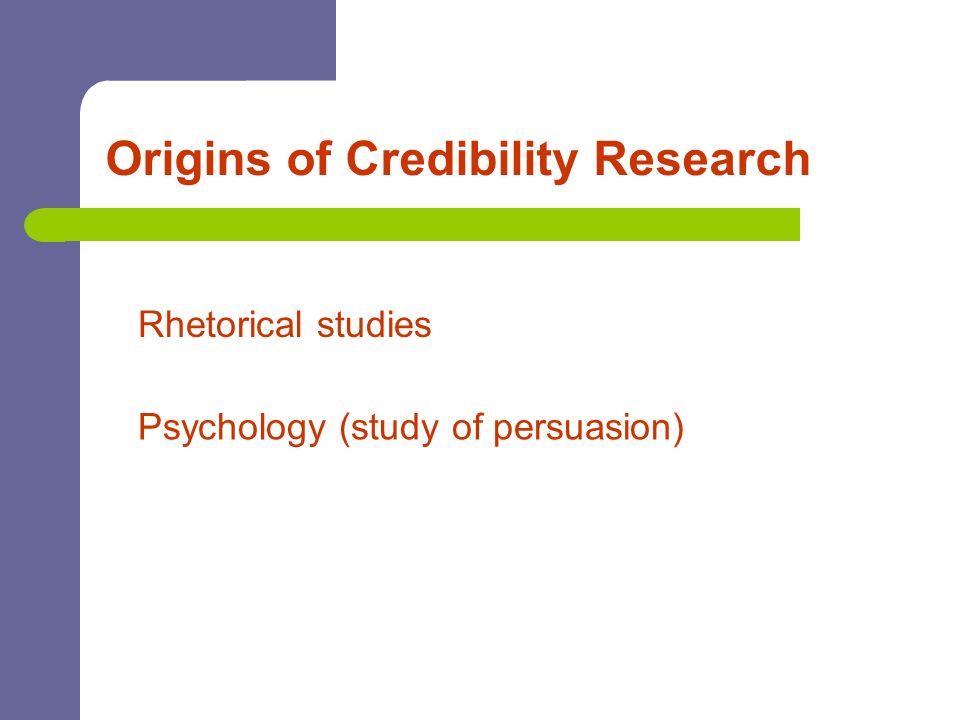 Origins of Credibility Research