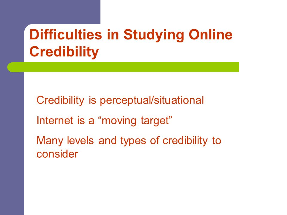 Difficulties in Studying Online Credibility