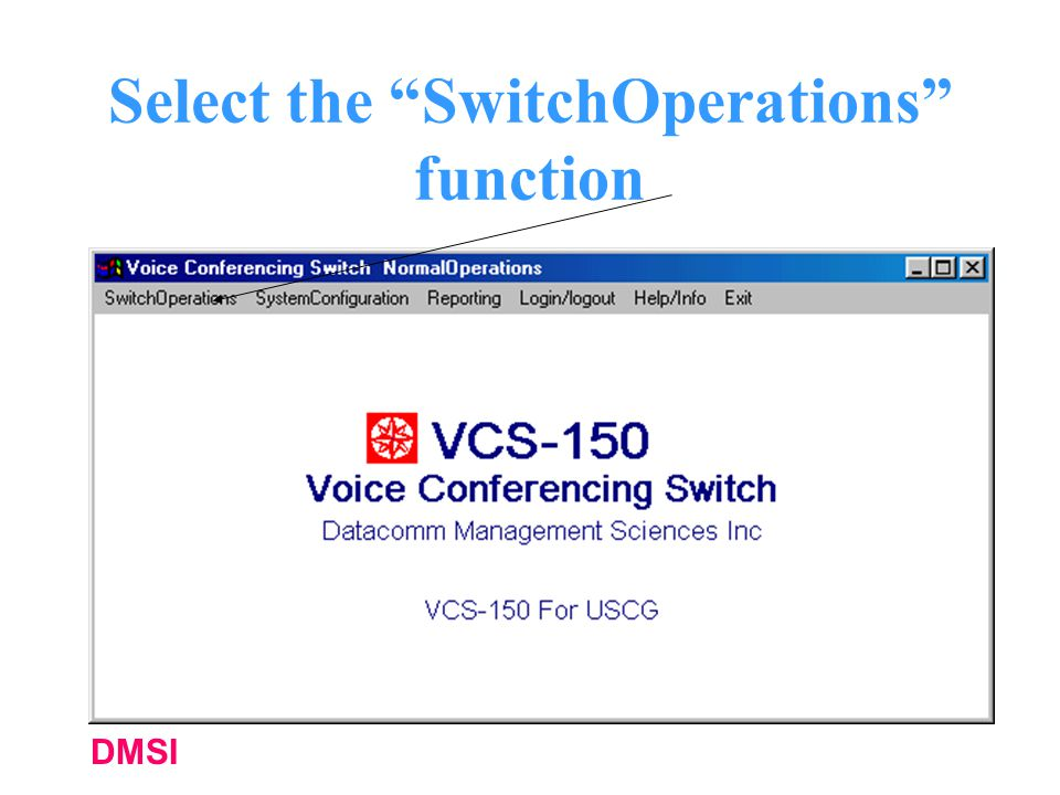 Select the SwitchOperations function