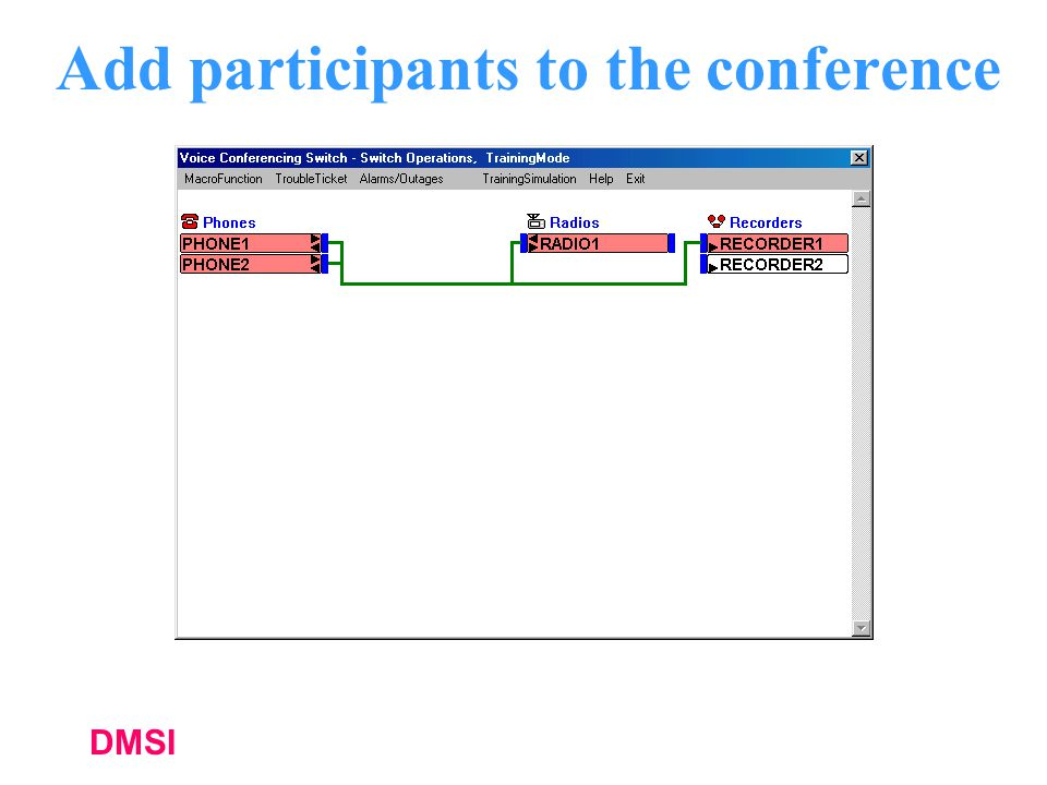 Add participants to the conference