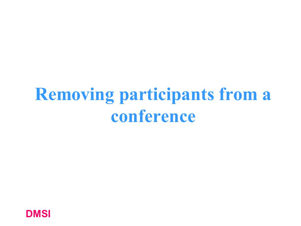 Removing participants from a conference