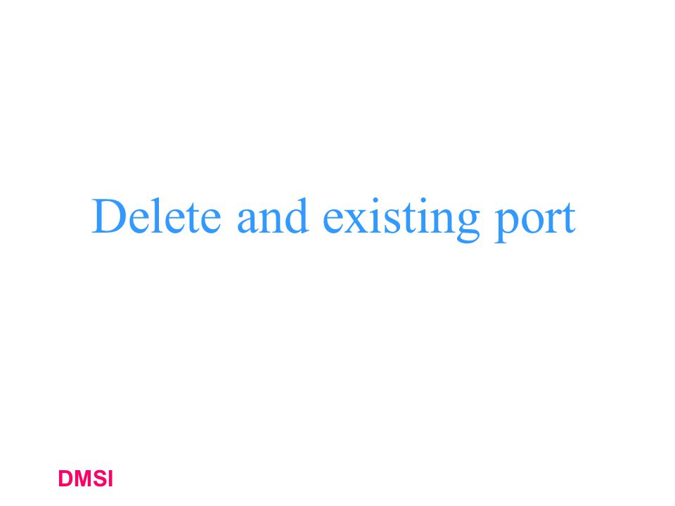 Delete and existing port
